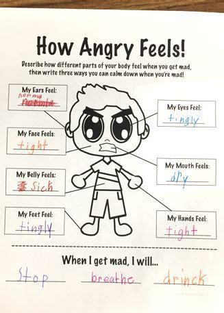 anger feels anger management worksheet anger