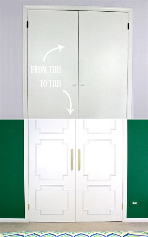 diy challenge give your closet doors a makeover ideas
