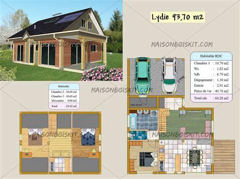 plan de maison gratuit 3 chambres plan gratuit de chalet en bois en kit et plan de maison bois