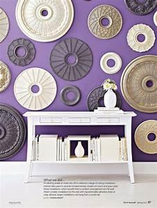 ceiling medallions as wall art sandra39s living room With medallion wall art