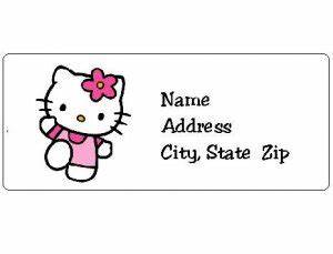 30 personalized hello kitty return address labels With hello kitty address labels