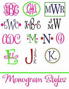 embroidery and monogram decal style options With decal lettering styles