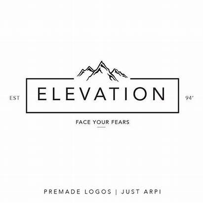 Mountain Logos Minimal Branding Elevation Mountains Designs