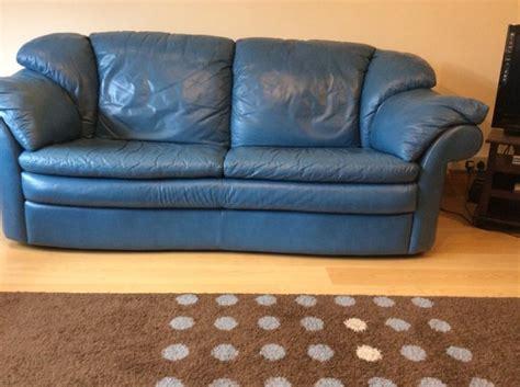 blue italian leather sofa italian teal blue leather suite settee sofa chair 321 for