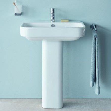 Duravit Happy D2 Pedestal Sink by Happy D 2 Wall Hung Basin By Duravit Just Bathroomware