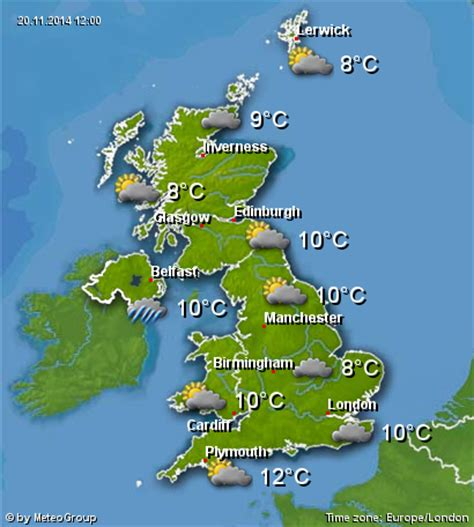 weather info united kingdom of great britain and northern ireland