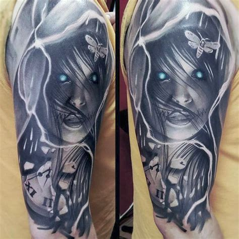 black with color tattoos amazing black grey color of realist horror
