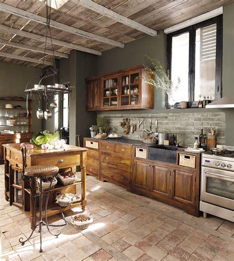 maison du monde luberon lub 233 la bellezza legno nella cucina classica arredica