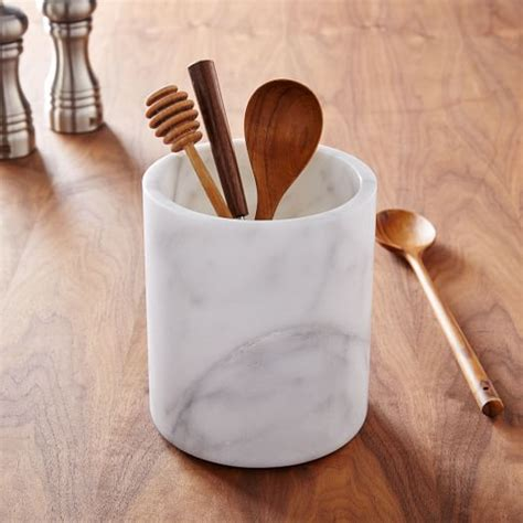 kitchen utensils organizer marble kitchen utensil holder west elm 3426