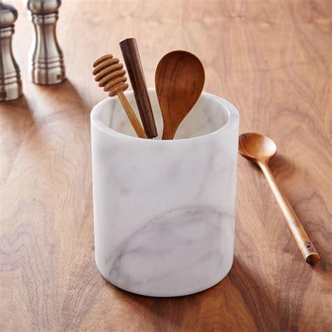 kitchen utensil storage marble kitchen utensil holder west elm 3424