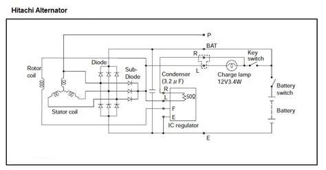 Hitachi Alternator Wiring Diagram by Alternator Hitachi To Prestolite Out Cruisers