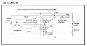 Yanmar Hitachi Alternator Wiring
