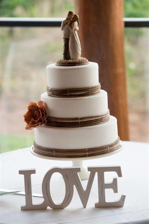 Love Rustic Wedding Cake Willow Tree Cake Topper Photo