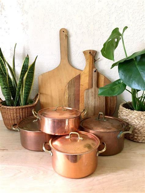 reservedmid century rustic copral portugal copper pot  etsy vintage copper pots mid