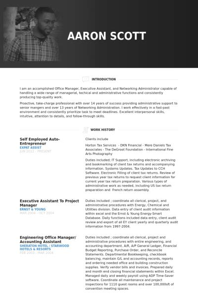 Self Employed On Resume by Self Employed Auto Entrepreneur Resume Exle Business