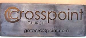 church and religious signs plaques With cut out letters signage