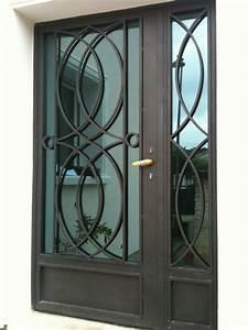 porte en fer forge quotcelestinequot porte style design With porte d entrée pvc avec miroir salle de bain fer forgé