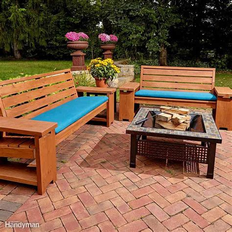 awesome plans  diy patio furniture family handyman
