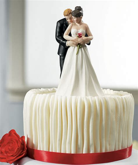 rose couple romantic wedding cake topper