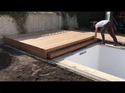 poolabdeckung begehbar  teilig youtube pile   piscinas piscinas  deck und