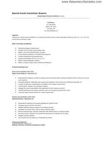 special events coordinator resume cover letter special events coordinator resume sles security guards companies