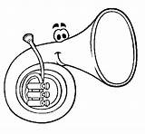 Colorear Trompa Corno Pintar Corneta Trompe Dibujos Horn Colorir Dibujo Imagui Coloring Tuba Trompeta Acolore Colorare Coloriage Dibuixos Coloritou Desenho sketch template
