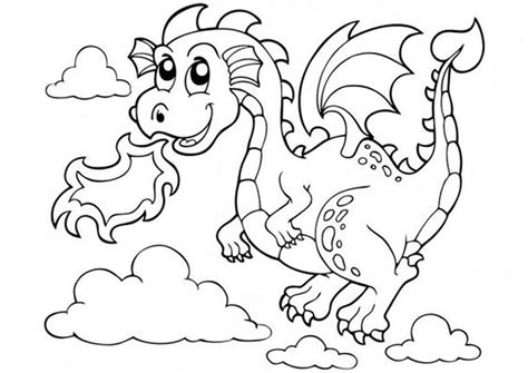 Free & Easy To Print Dragon Coloring Pages Tulamama