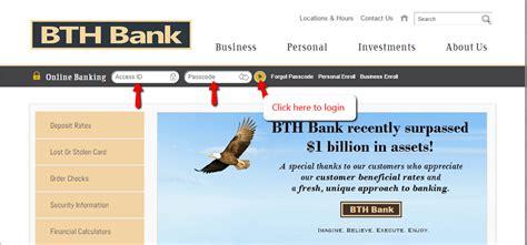 Bth Bank Online Banking Login