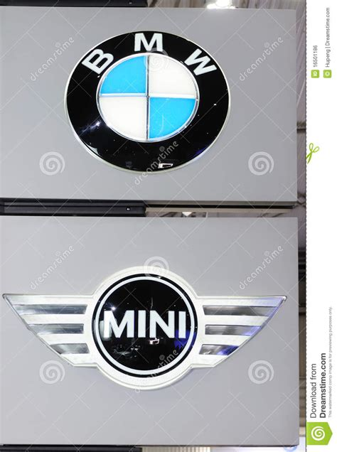 bmw mini logo editorial photo image