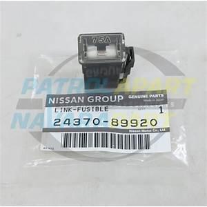 Genuine Nissan Patrol Gq Td42 75amp Grey Fusible Link Fuse