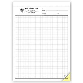 business forms  multi part graph paper   deluxe