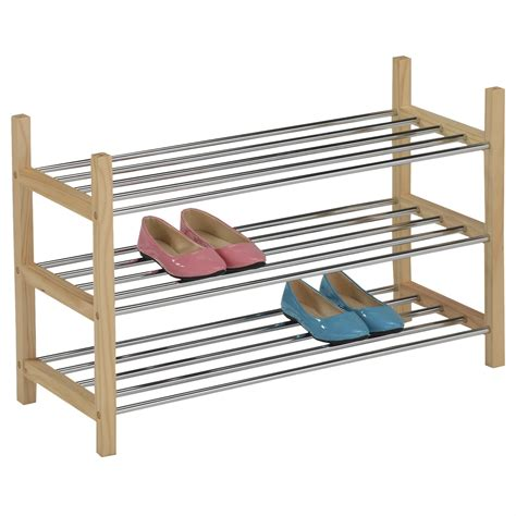 Schuhregal Schuhablage Schuhständer Schuhschrank Holz 3