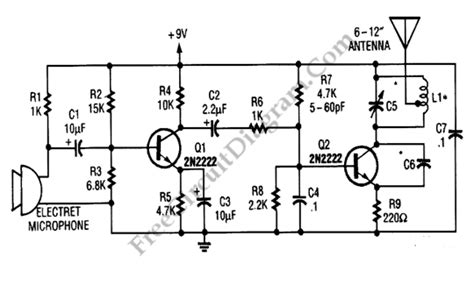 Simple Wireless Microphone Transmitter Circuit