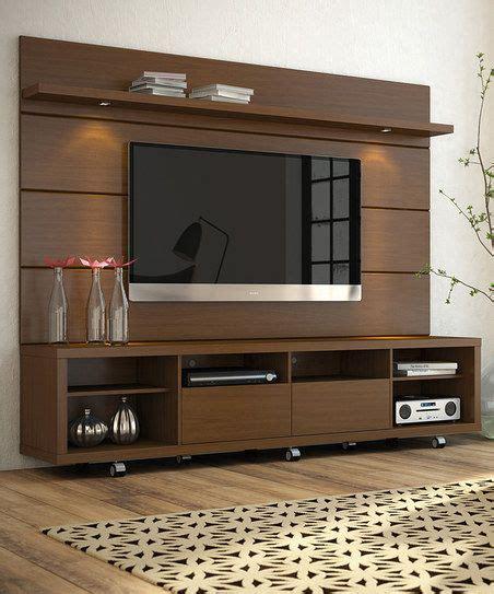 tv rack design manhattan comfort nut brown cabrini 2 2 tv stand panel zulily apt decor furniture