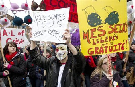 siege social saq grève étudiante après les heurts le calme émilie