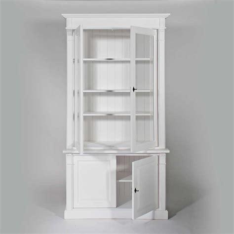 buffet vaisselier bois massif blanc  portes