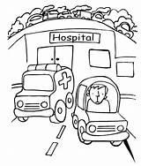 Hospital Coloring Ambulance Printables Getcolorings Printable Pa sketch template