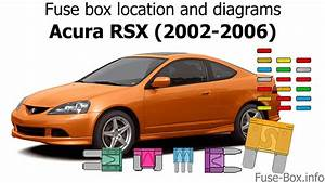 Fuse Box Location And Diagrams  Acura Rsx  2002-2006