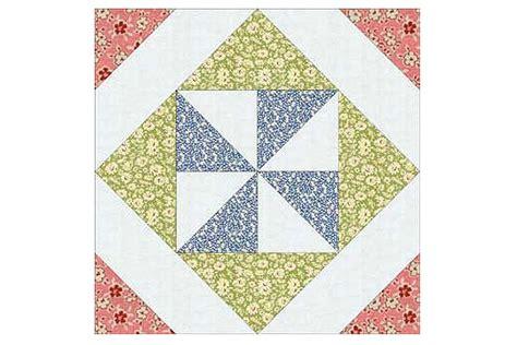 pinwheel   square quilt block pattern