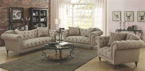 Alasdair Light Brown Living Room Set, 505571, Coaster