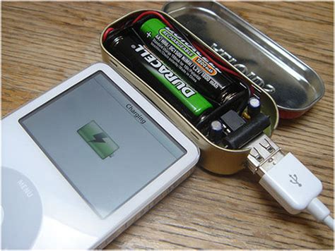 battery powered phone charger aa battery powered power bank