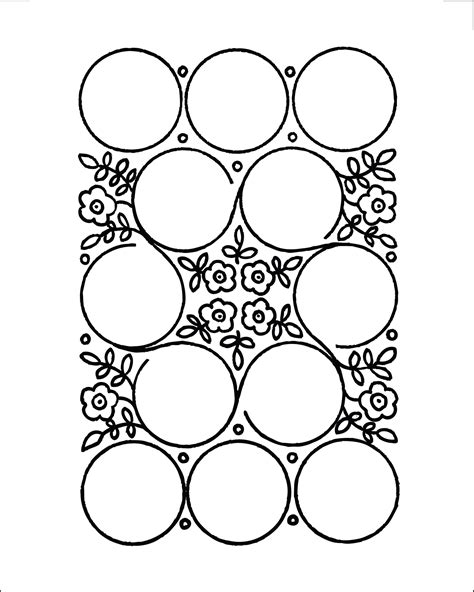 button design template diy project sewing notions display design sponge