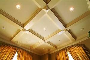 Waffle ceiling with potlights wycliffe