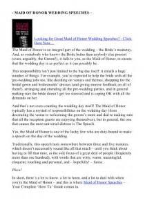 great wedding speeches of honor wedding speeches