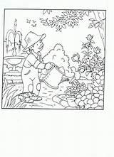 Coloring Pages Plantation Tuin Garden Kleurplaat Kleurplaten Sketch Activities Template Printable sketch template