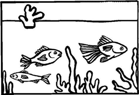 fish tank  home decoration coloring page netart