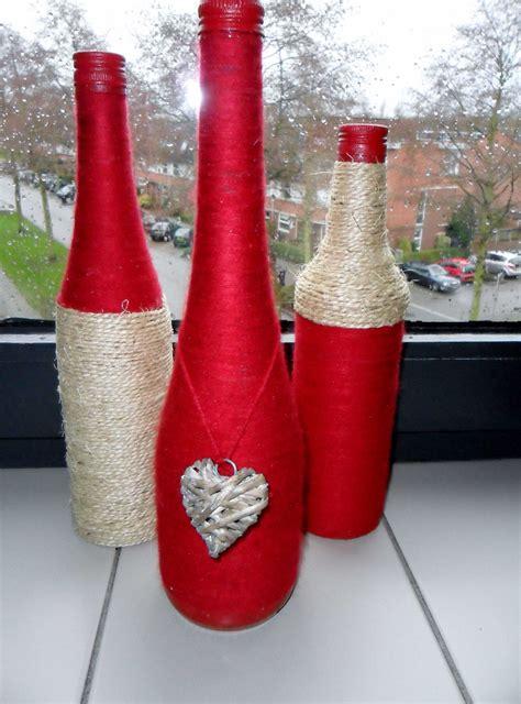botellas vidrio decoradas ideas decoracion de vino tinto