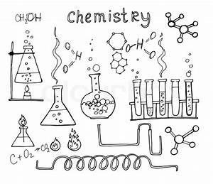 Chemistry Set  Hand Drawn Vector Illustration  Education