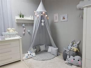 Kinderzimmer Blau Grau : babymajawelt betthimmel baldachin grau xxl stars kinderzimmer ~ Markanthonyermac.com Haus und Dekorationen