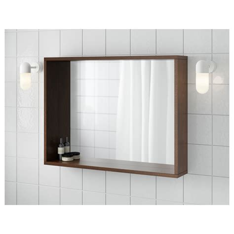 ikea molger sliding bathroom mirror cabinet molger mirror brown 80x60 cm ikea